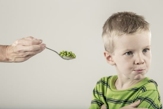 young boy refusing to eat peas | Say no to grow your business