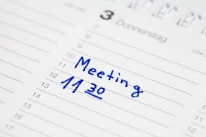 How many meetings with whom