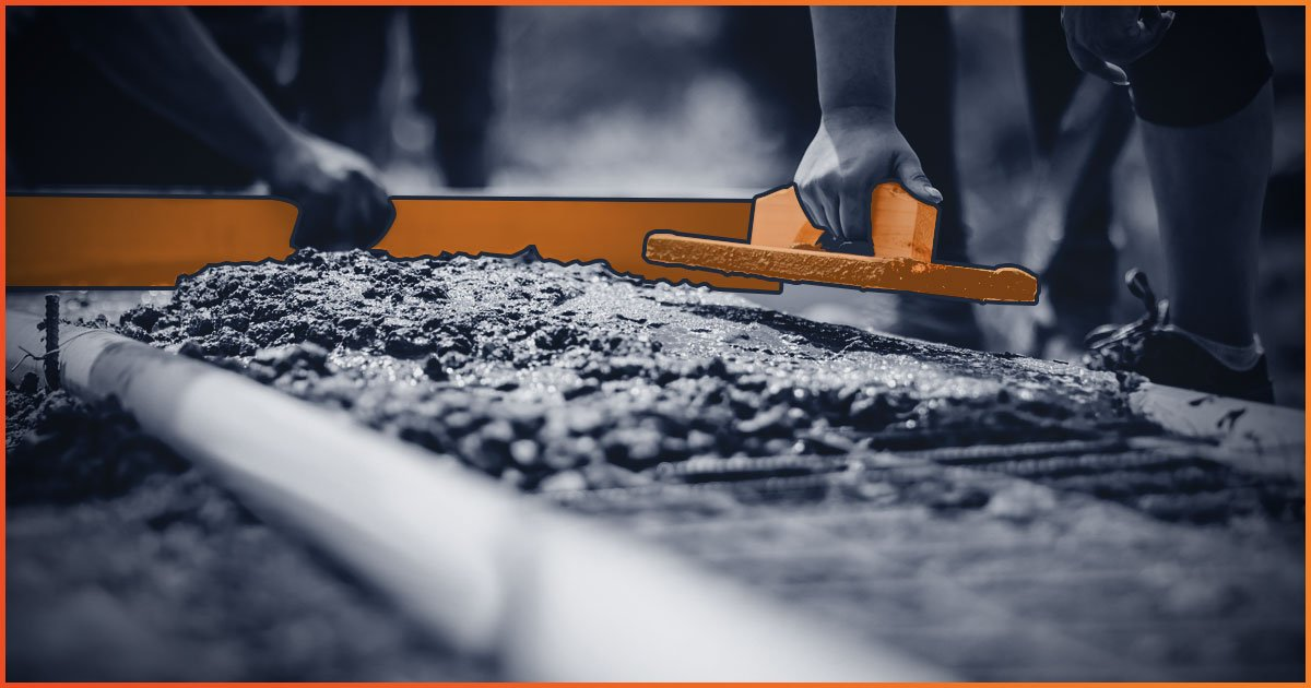 Two people laying foundation